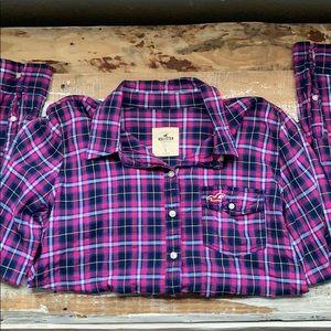 Hollister button down plaid shirt